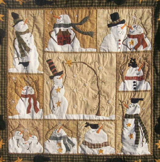 """The Cotton Patch quilt pattern called """"Flakey Friends"""" - very cute!"""