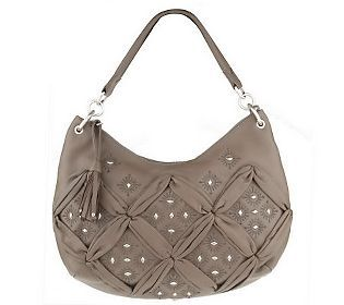 Fiore by Isabella Fiore Leather Hobo with Gathering