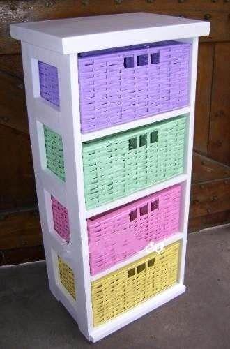 Canasto de mimbre organizador todas las medidas for Organizador cajones bano