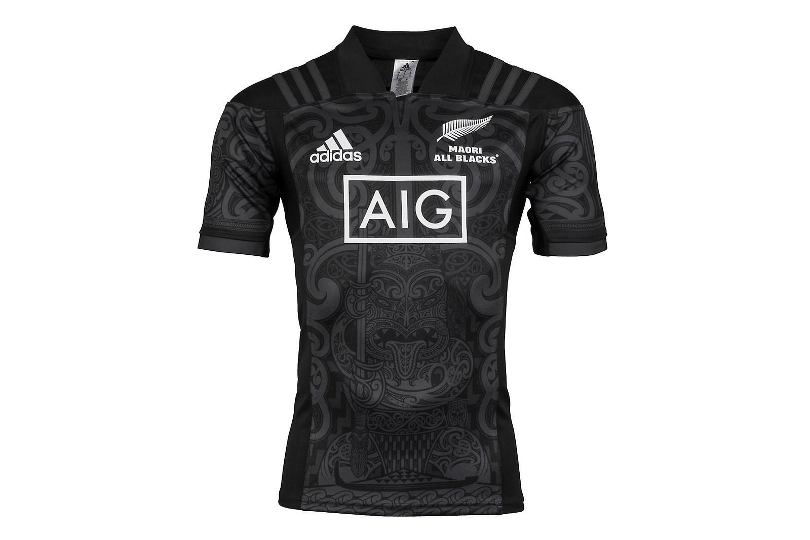 90d6ae8a92e adidas New Zealand Maori All Blacks 2017 S/S Rugby Shirt | Fruugo ...