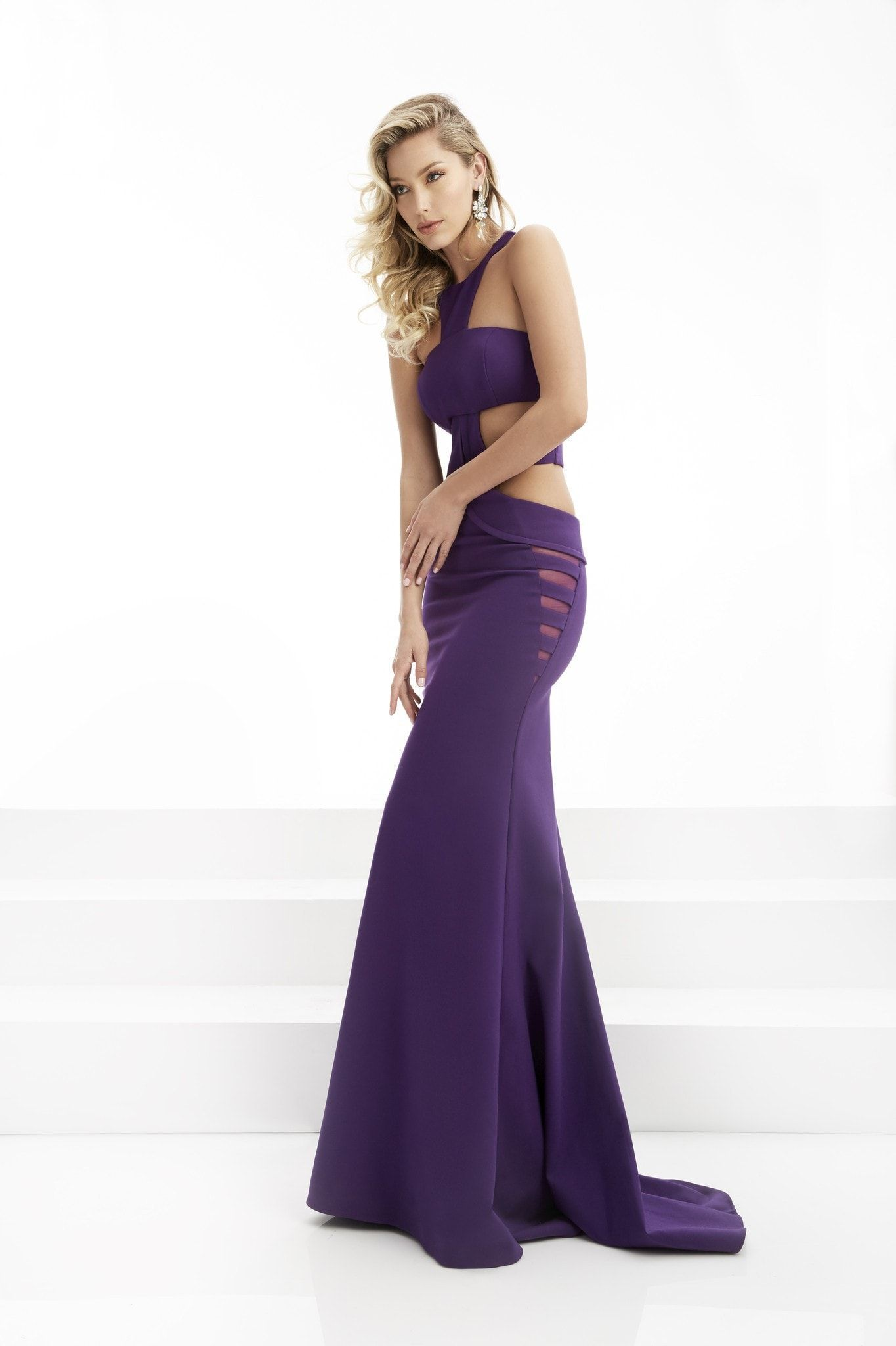 Jasz couture purple cutout prom dress prom dresses