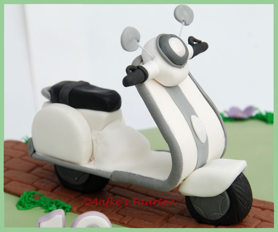 How To Make A Scooter Cake Topper