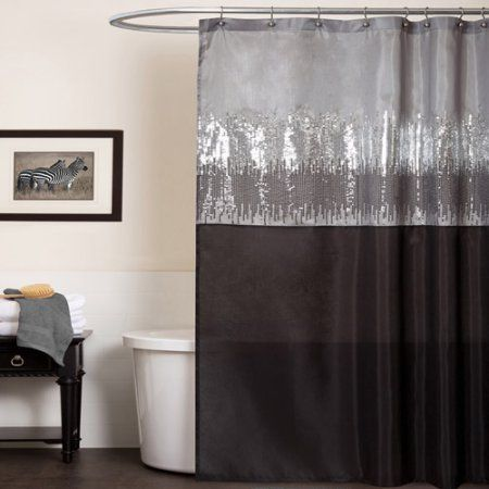 Home With Images Gray Shower Curtains Fabric Shower Curtains Sequin Shower Curtain