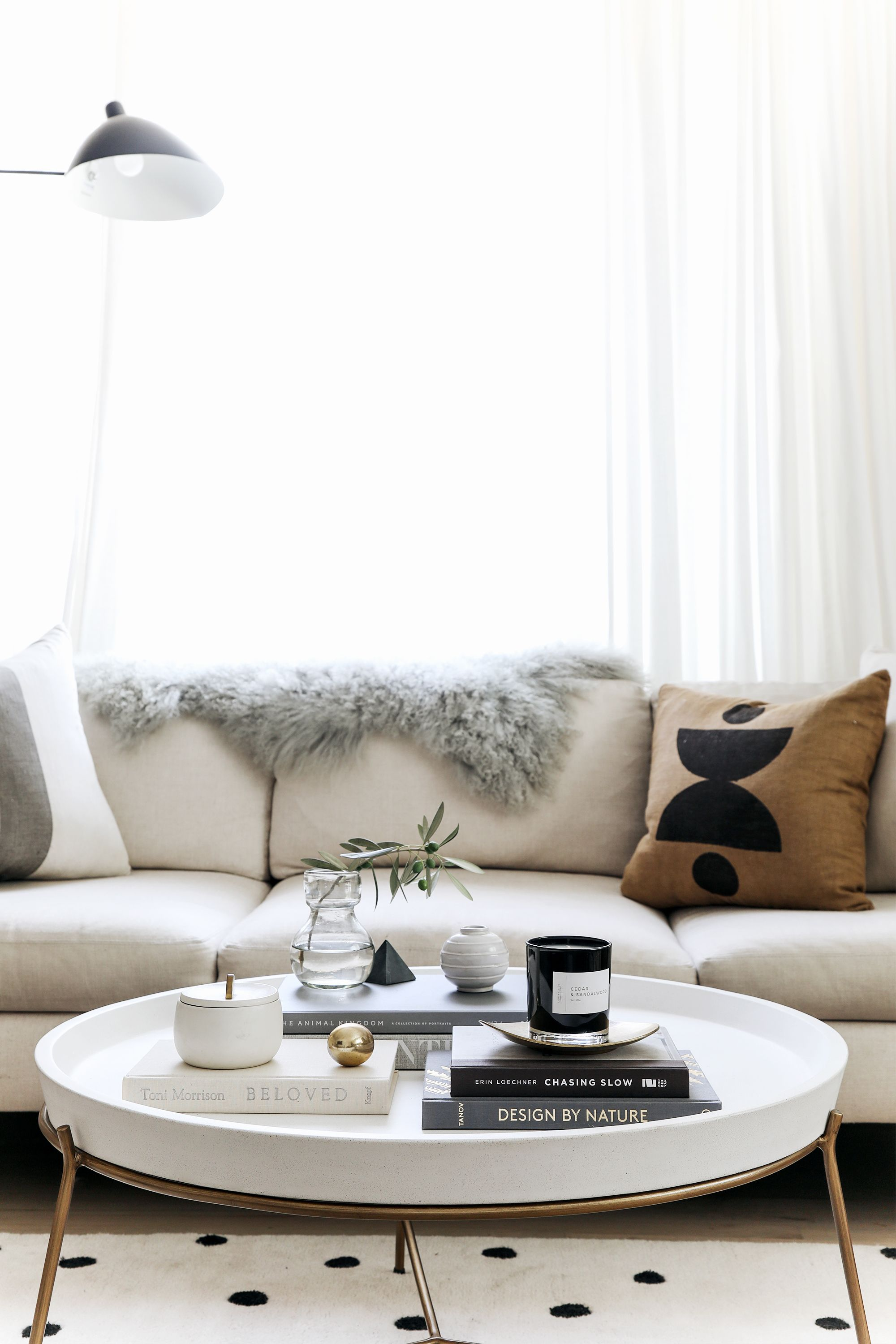 Coffee Table Styling Tips For Round Coffee Tables Anne Sage Round Coffee Table Decor Table Decor Living Room Coffee Table Decor Living Room [ 3000 x 2000 Pixel ]