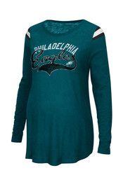 1ddf1276 Philadelphia Womens Green Championship Maternity Long Sleeve   NFL ...