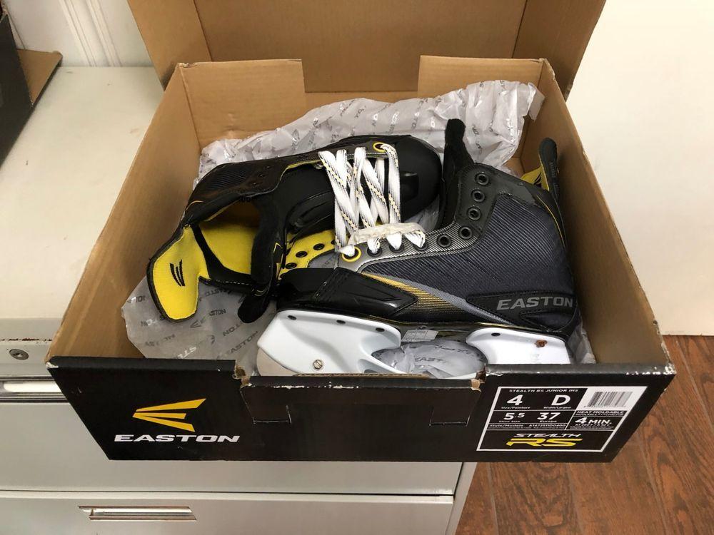 Easton Stealth RS Jr Hockey Skates size 4D TOP OF LINE
