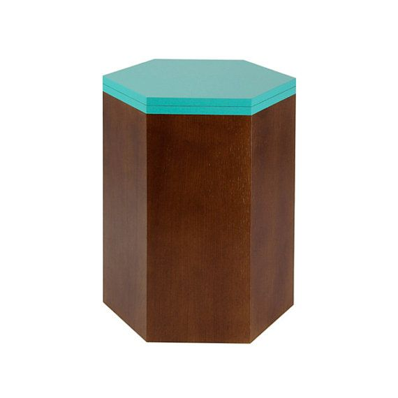 Wood stool for small living spaces / Side table for living room ...