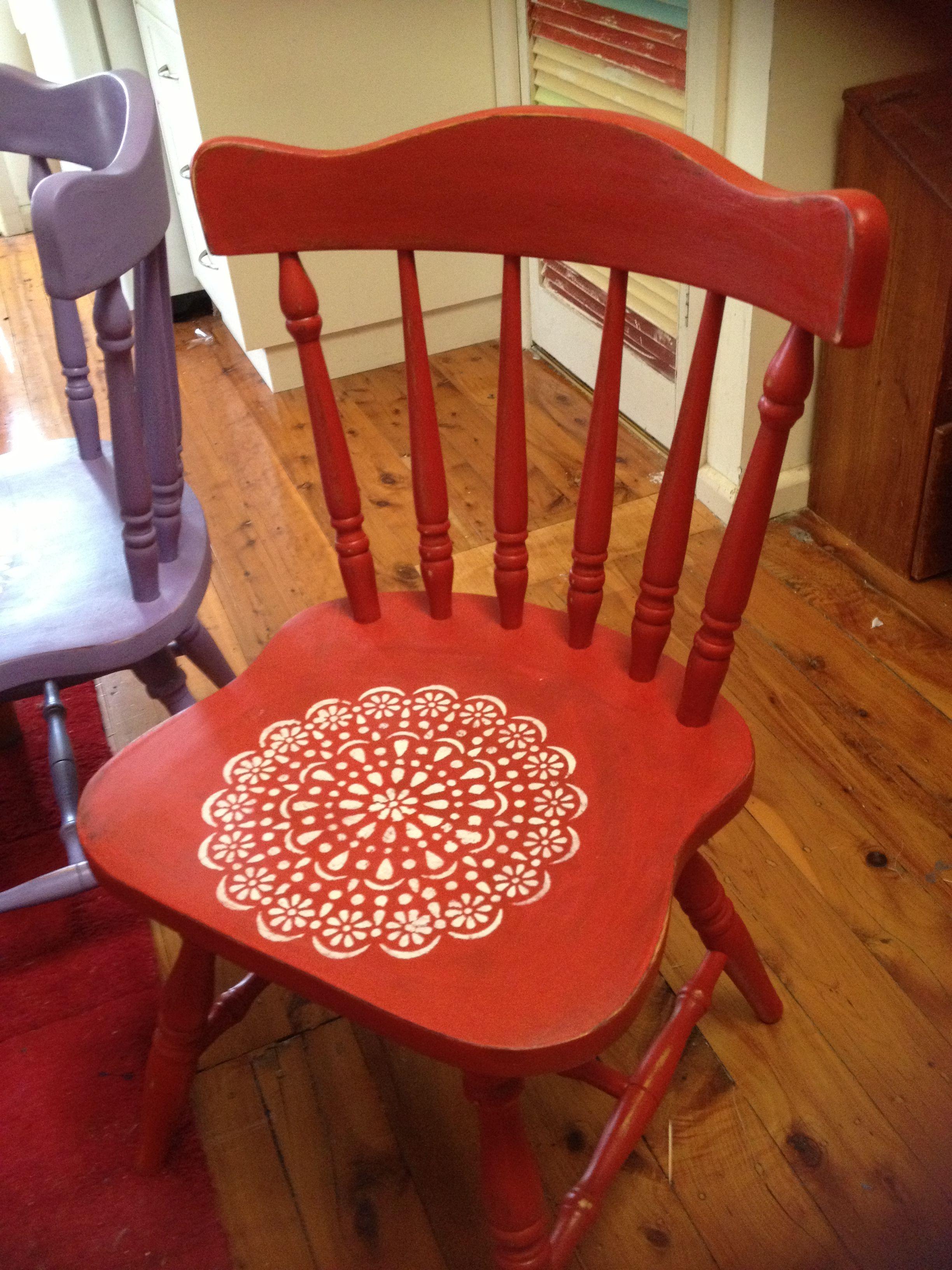 lovely red chair from dear liza | dear liza | pinterest