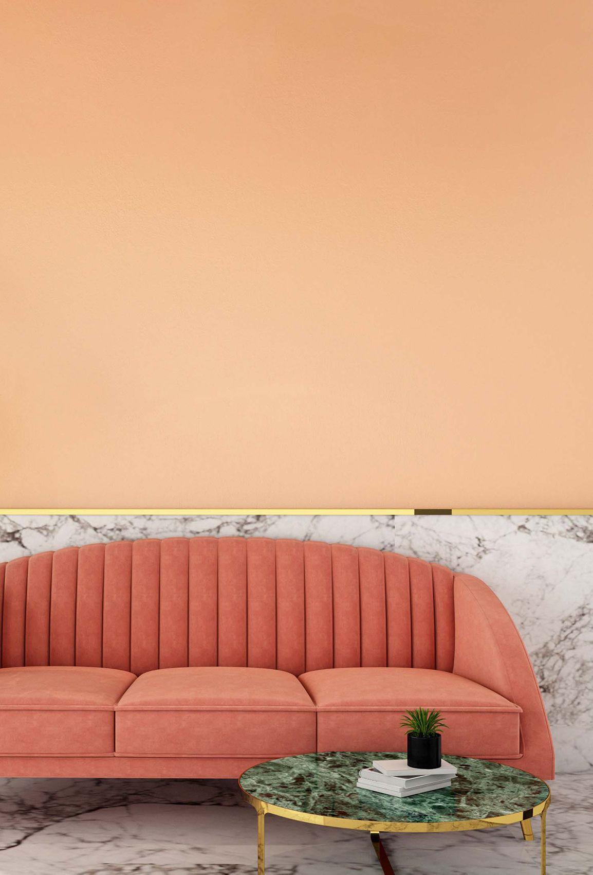 Sorbet C2 528 Orange Rooms Orange Paint Colors Peach Rooms #peach #living #room #walls