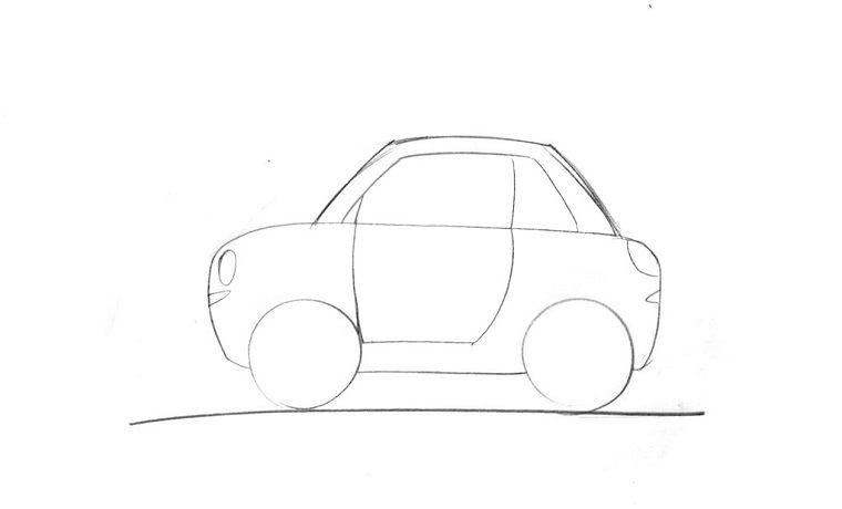 Come disegnare una macchina disegni facili da copiare per for Disegni 3d facili per bambini