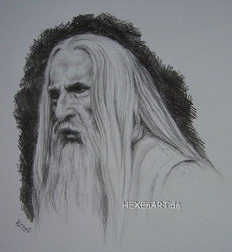 Saruman, LOTR, pencil