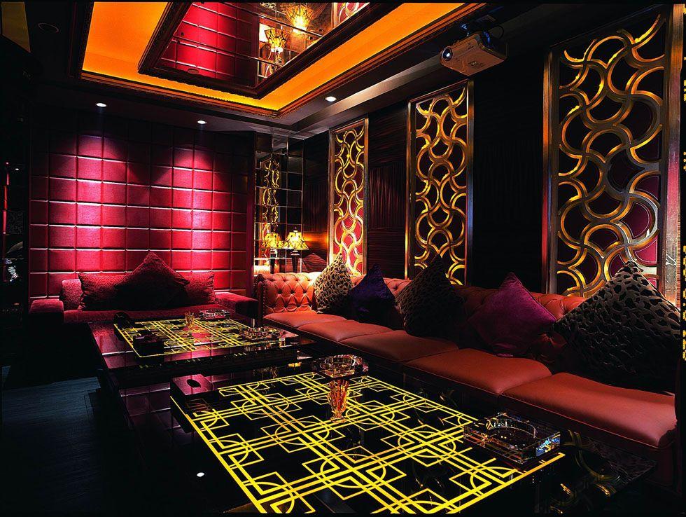 Luxury ktv room interior design k tv pinterest room for Design room karaoke