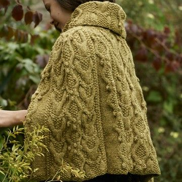 Adwen Cable Cape free knitting pattern | Knitting - cape/capelet ...