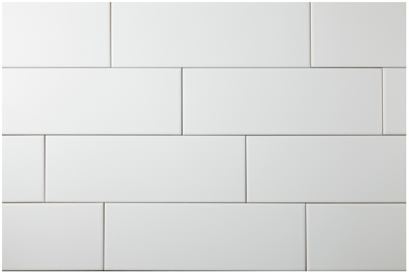Kitchen Backsplash 4x12 Matte White Subway Tile With Light Gray Grout White Subway Tiles Kitchen Backsplash Subway Tile Matte Subway Tile Backsplash