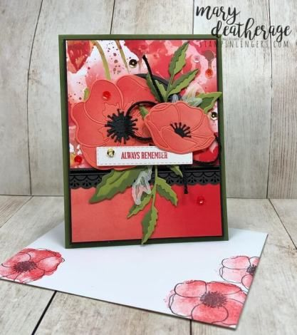 Stampin Up Peaceful Painted Poppies Sneak Peek For The Happy Inkin Thursday Blog Hop Stamps N Lingers Poppy Cards Stamping Up Cards Stampin Up Cards