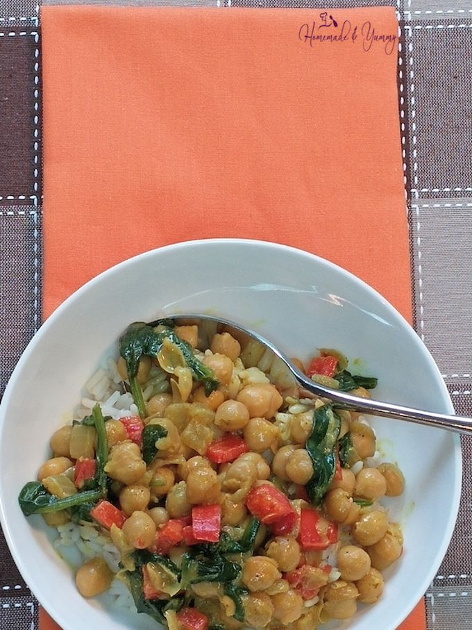 Chickpea Curry ready to eat