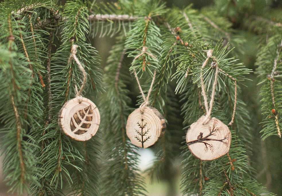 Wood Burned Ornaments, set of 3 by GracemereWoods on Etsy https://www.etsy.com/listing/213465439/wood-burned-ornaments-set-of-3
