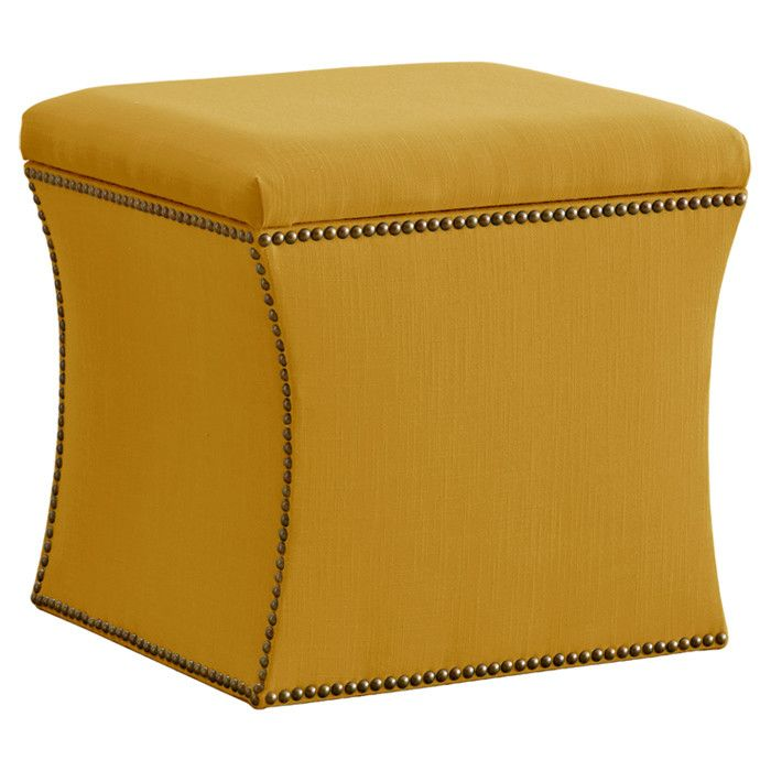 Adele Storage Ottoman In French Yellow Ottoman Decor Home Decor