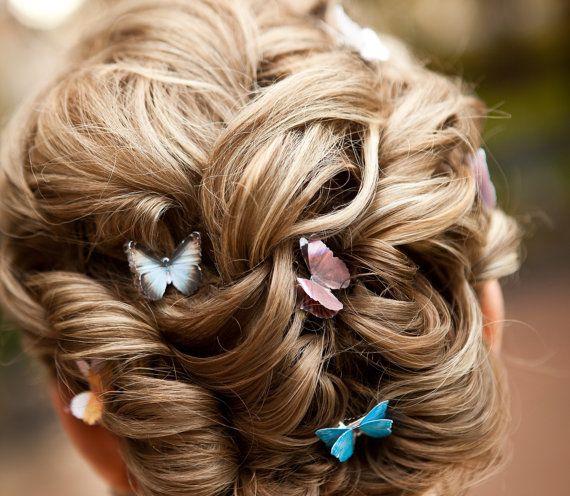 Pretty butterfly wedding clips..