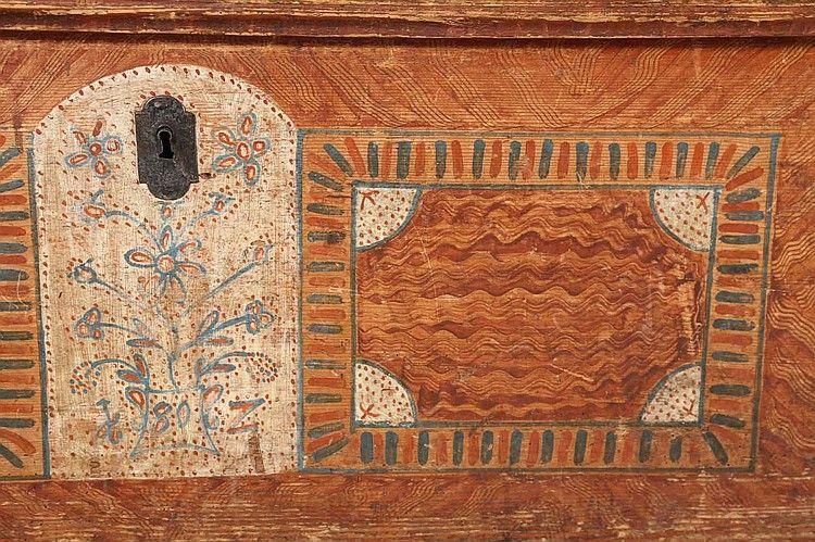Dutch Paint Decorated Blanket Box