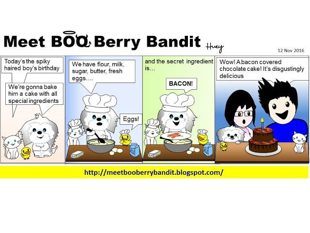 Meet BOO Berry Bandit (BBB): Happy 12th Birthday the Spiky Haired Boy
