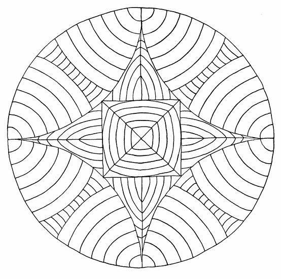Geometrische Malvorlagen - 1Ausmalbilder in 2020