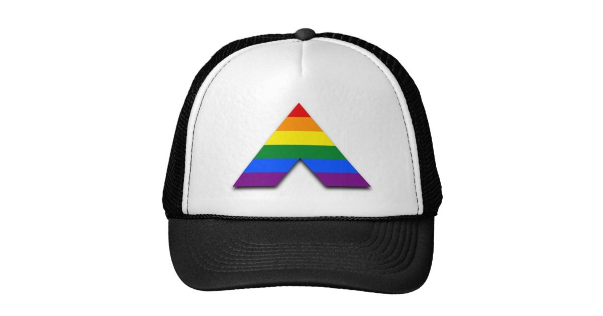 Black Trucker Hat With Straight Lgbt Lesbian Gay Bisexual And