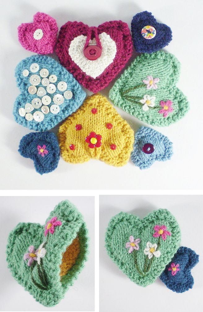 Heart Knitting Patterns | Valentine messages, Dk weight yarn and ...