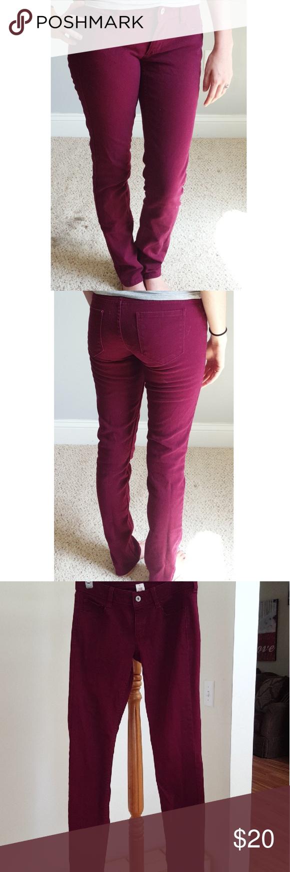 ddf07ee5008267 I just added this listing on Poshmark: Burgundy straight leg jeans size 5.  #shopmycloset #poshmark #fashion #shopping #style #forsale #Arizona Jean  Company ...
