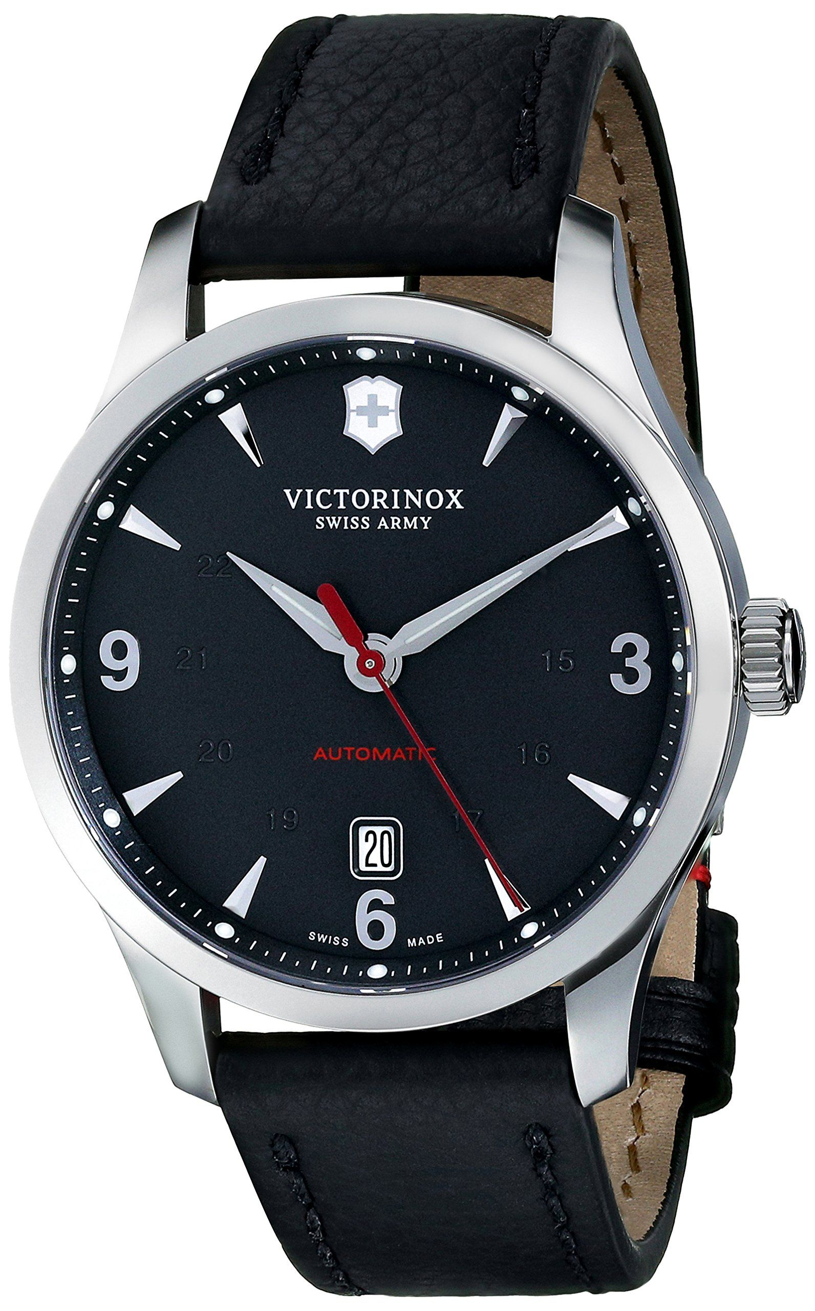 com watches swiss men s leather maverick a army watchtag watch mens victorinox