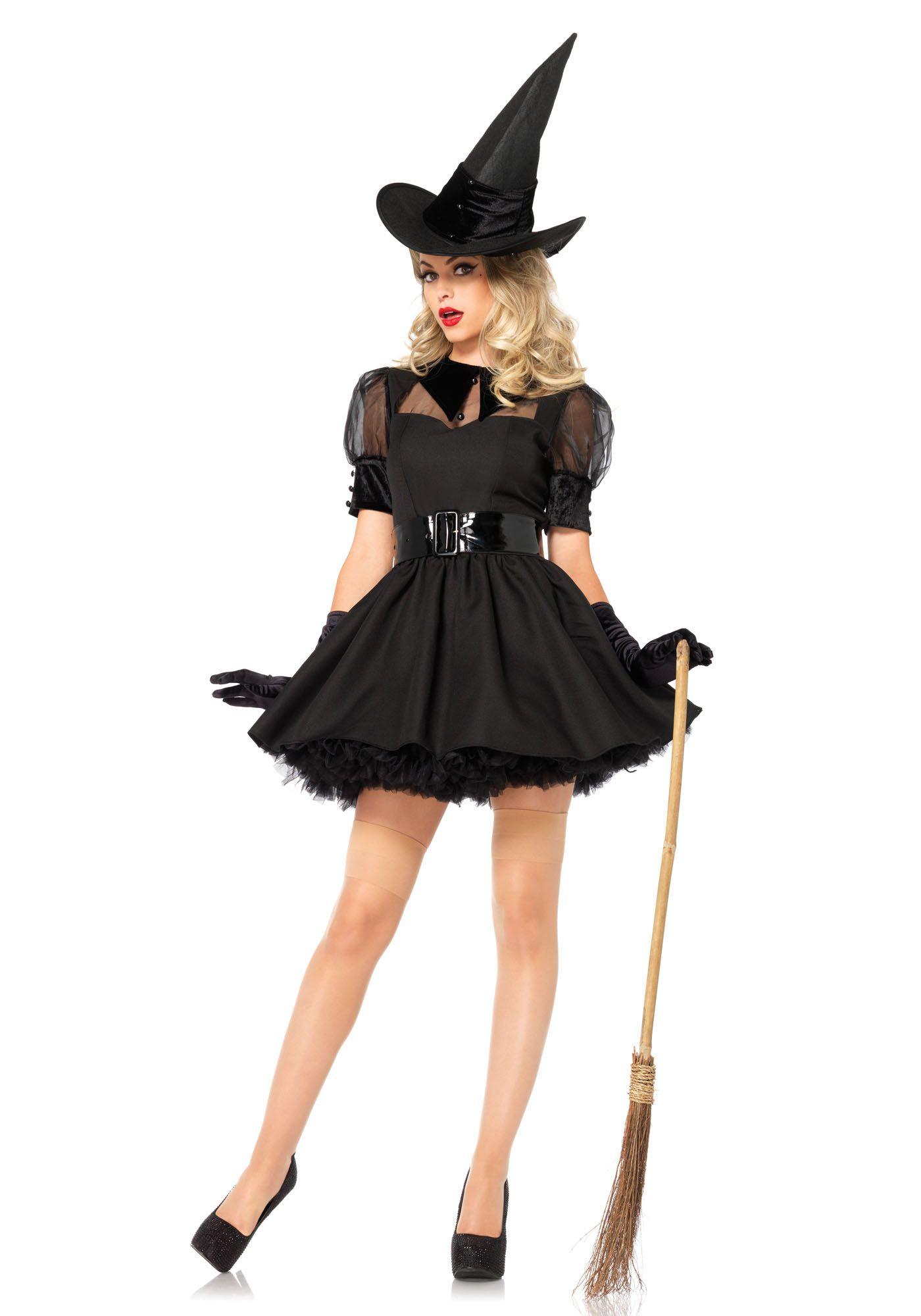 Disfraz de bruja elegante mujer Disfraz de bruja
