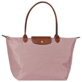 78f6d0038a66 long champ le pliage old rose White Leather Handbags