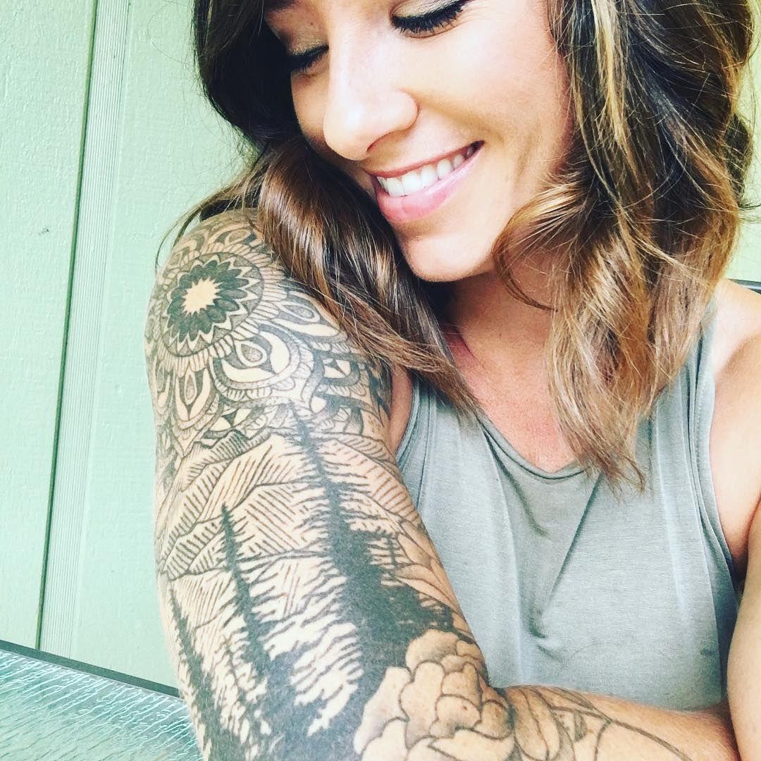 Trees And A Mandala Sun Sleeve Tatt Trees And A Mandala Sun Sleeve Tatt Mandala N In 2020 Tattoos For Women Half Sleeve Half Sleeve Tattoo Quarter Sleeve Tattoos