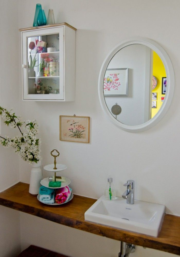 Shabby chic Deko im Badezimmer. Sehr stimmungsvoll ...