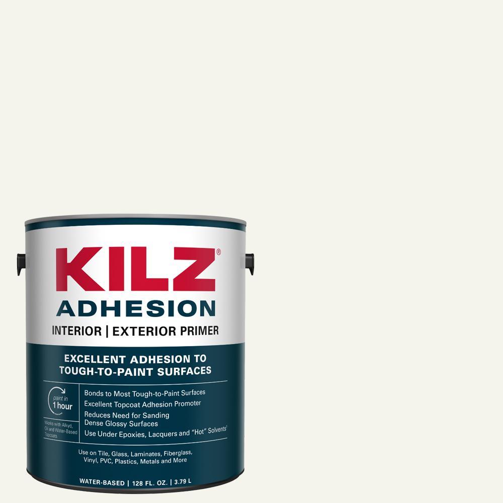 Kilz Adhesion 1 Gal White Bonding Interior Exterior Primer L211101 In 2020 Exterior Primer Kilz Adhesive