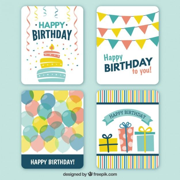 Pin by Jen Johnson on Vector images Pinterest Happy birthday - happy birthday cards templates