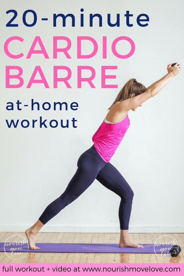 20-Minute Cardio Barre Home Workout | Nourish Move Love #cardiobarre 20-Minute Cardio Barre Home Wor...