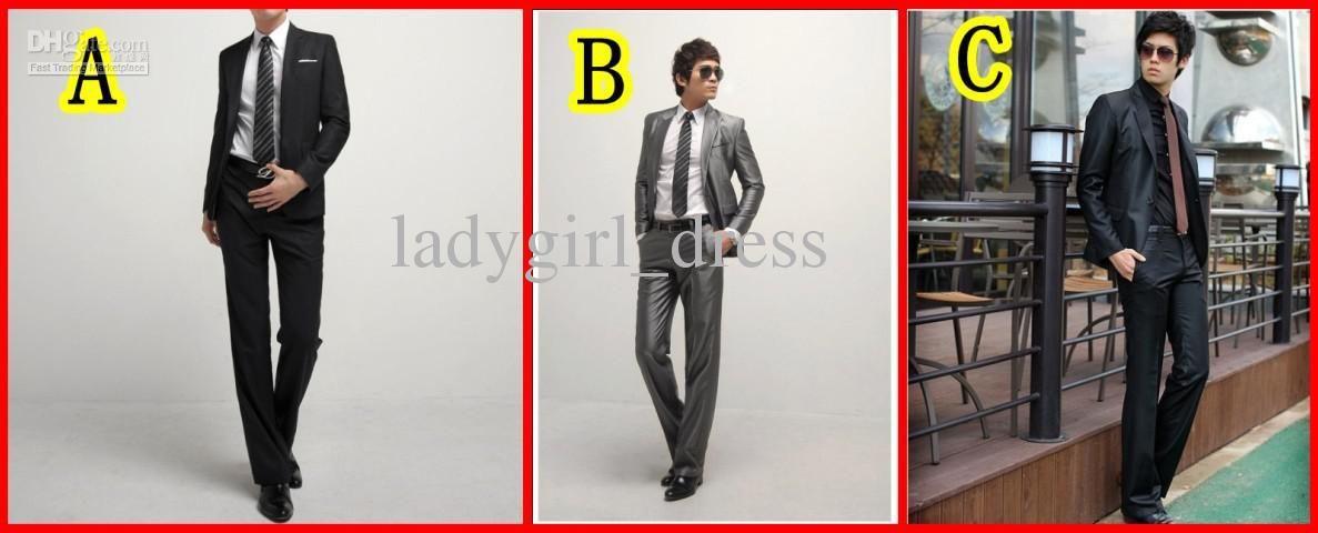Wholesale In Stock Fashion Groom Tuxedos Best man Suit Wedding Groomsman/Men Suits Bridegroom JacketPantsTie, Free shipping, $7.53-88.48/Piece   DHgate