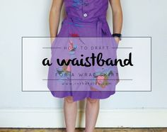 How to draft a waistband for a wrap skirt