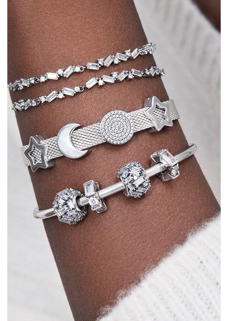 pandora donna argento bracciale con charm