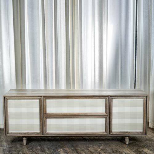 Eight Forty, Inspired By Fifth Avenue, Modern Credenza, Bedroom Credenza,  Low Credenza, Wood Credenza, Leather, Upholstered Drawer Faces, In Bleached  Walnut ...