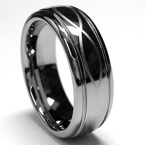 7mm Tungsten Ring With Laser Etched Infinity Design Sizes 6 To 12 Jewelry
