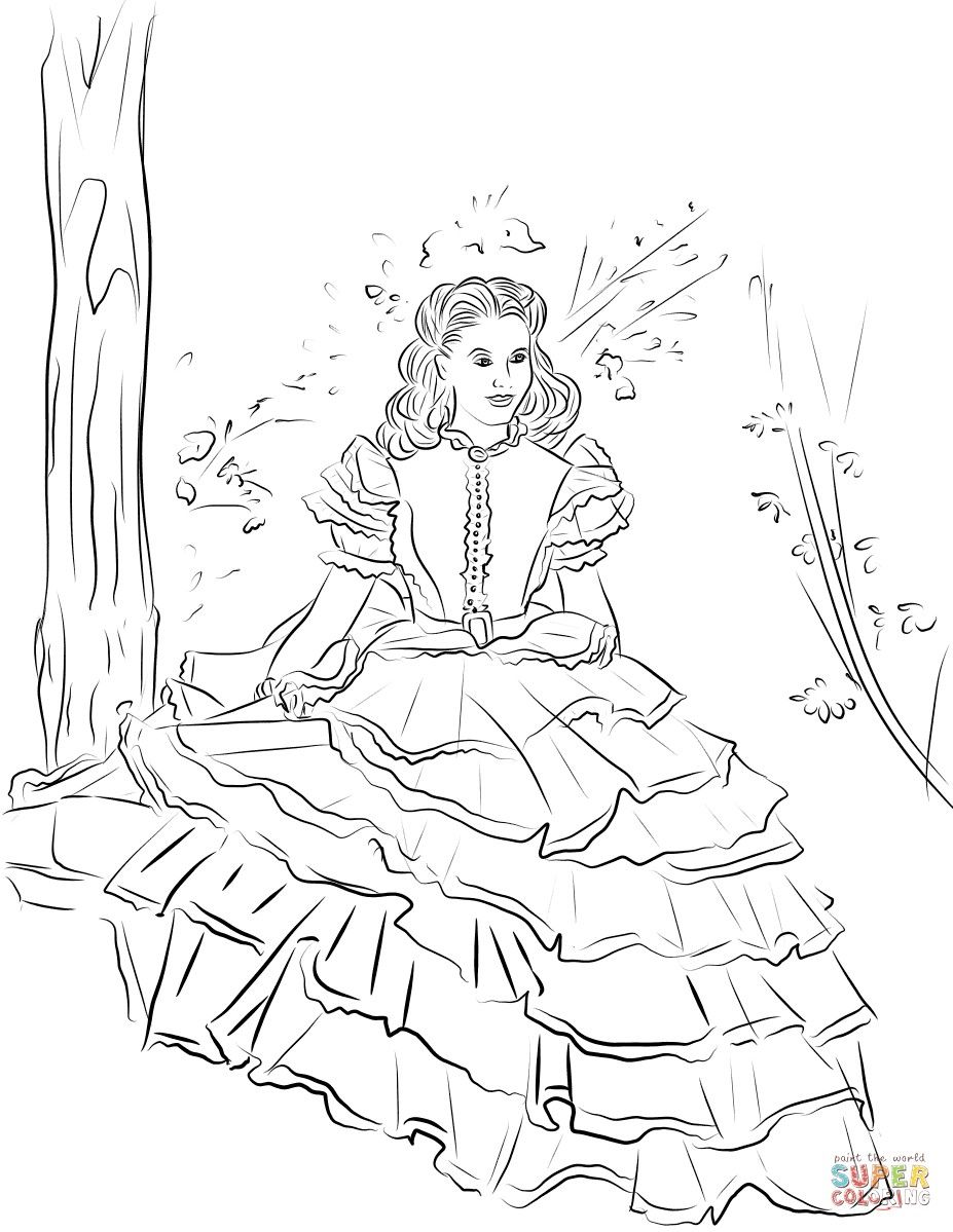 Gone With The Wind Color Pages Coloring Pages Gone With The Wind Drawings