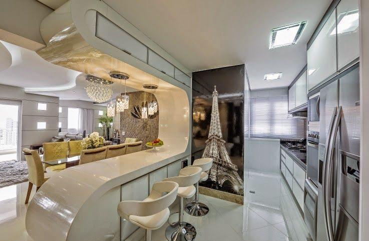 21 cozinhas americanas modernas veja modelos de bancadas for Modelos de cocinas modernas americanas