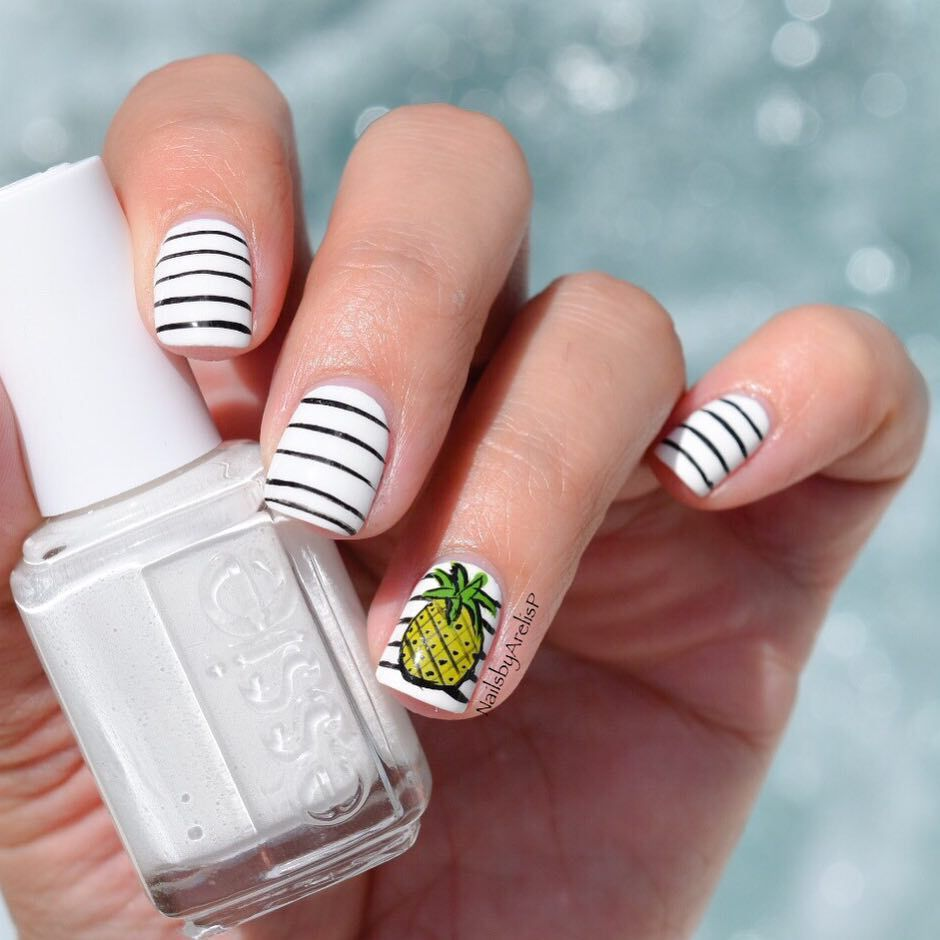 Pineapple Nail Art - Pineapple Nail Art Nails Pinterest Pineapple Nails, Makeup And