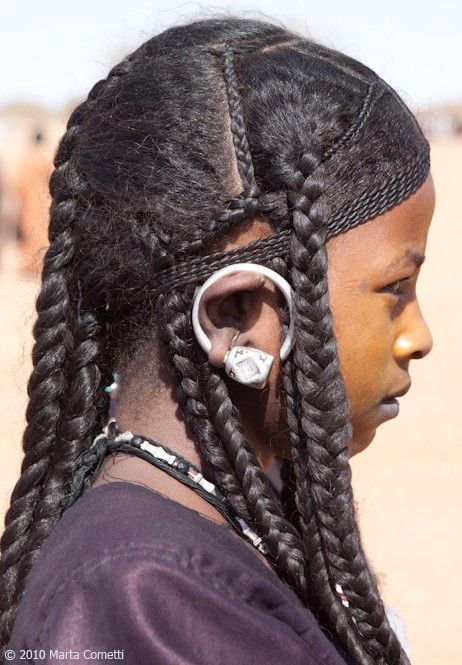 A Saharan Tuareg Hairstyle Common Among Young Ancient -8571
