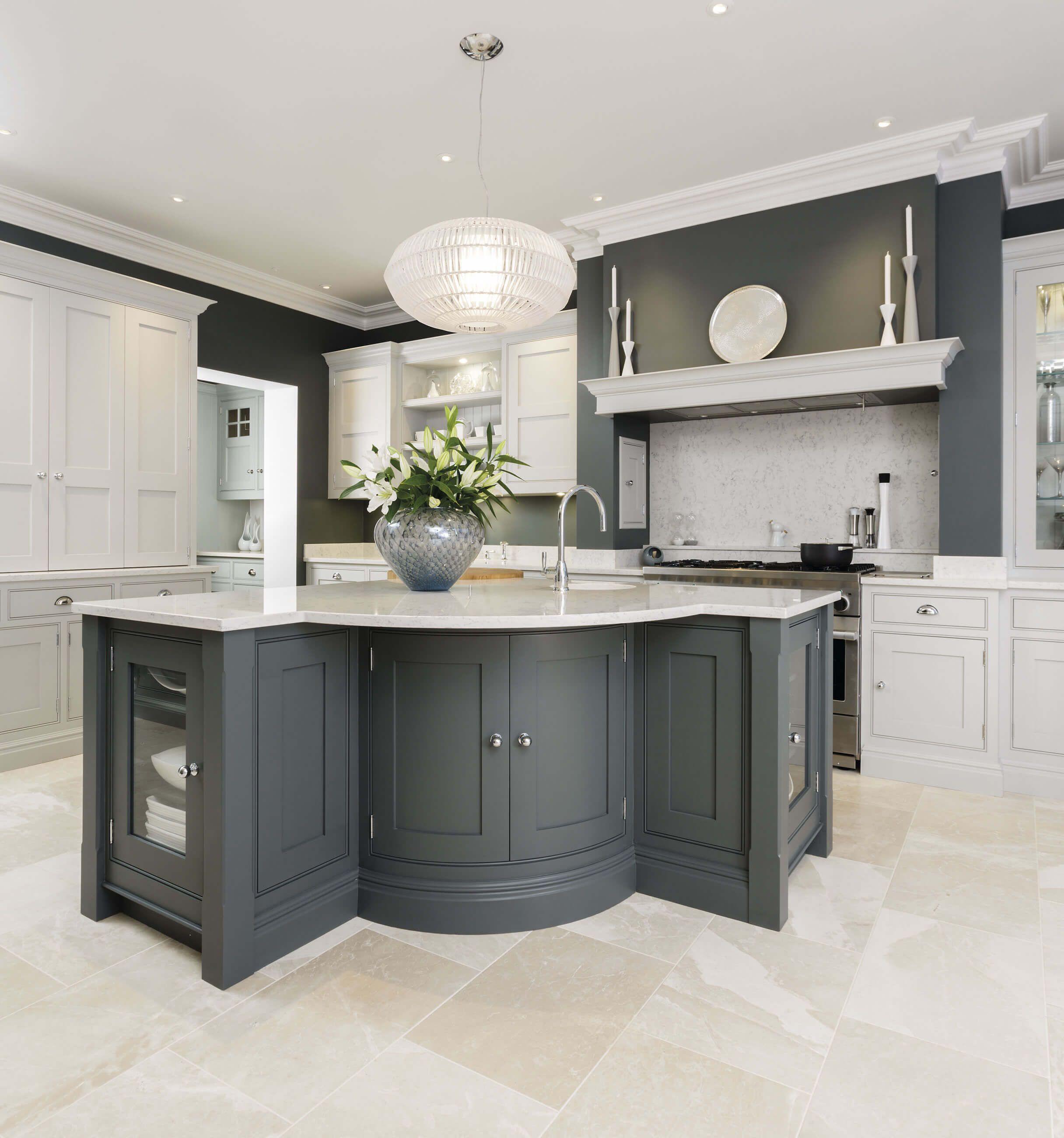 Kitchen Island Kitchen design small, Grey kitchens, Grey