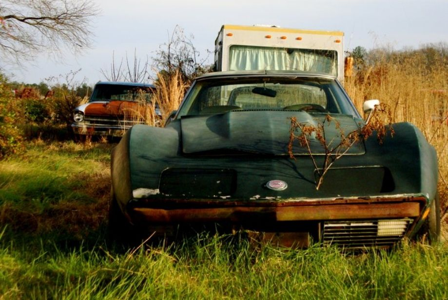 C3 Corvette Field Car Corvette, Rusty cars, Barn find cars