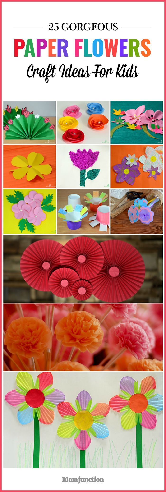 How To Make Paper Flowers For Kids Pinterest Flower Crafts