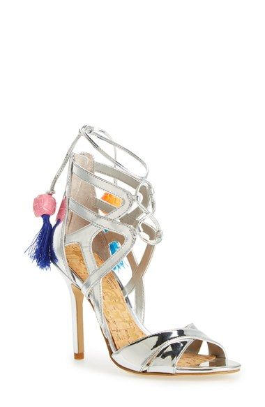 cf04d6872a3c5f Free shipping and returns on Sam Edelman  Azela  Tassel Lace-Up Sandal ( Women) at Nordstrom.com. Bright